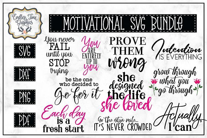 Motivational Quotes SVG Bundle -10 Unique Quotes