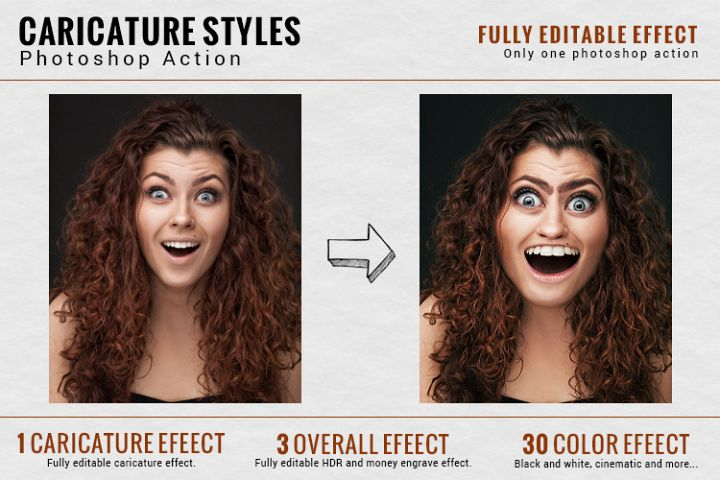 Caricature Styles -Photoshop Action
