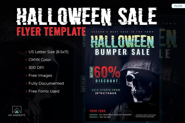 Halloween Bumper Sale Flyer template