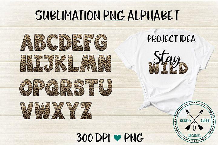 Leopard PNG Alphabet for Sublimation