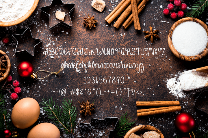 Cinnamon Sticks Handwritten Font example 2