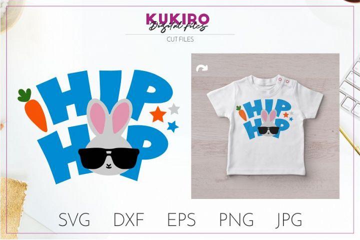 EASTER SVG - Hip Hop Bunny boy cut file SVG DXF EPS PNG JPG