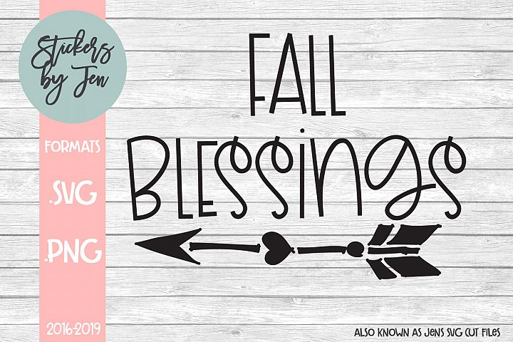 Fall Blessings SVG Cut File