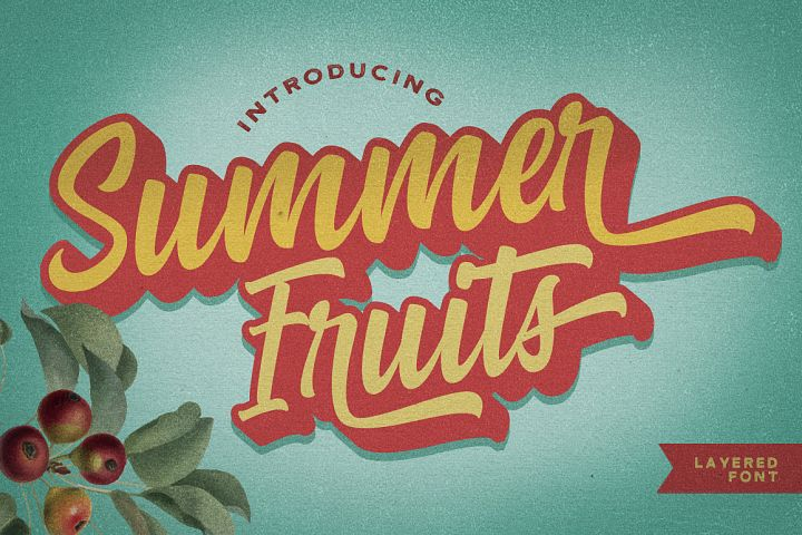 Summer Fruit - LogoFont