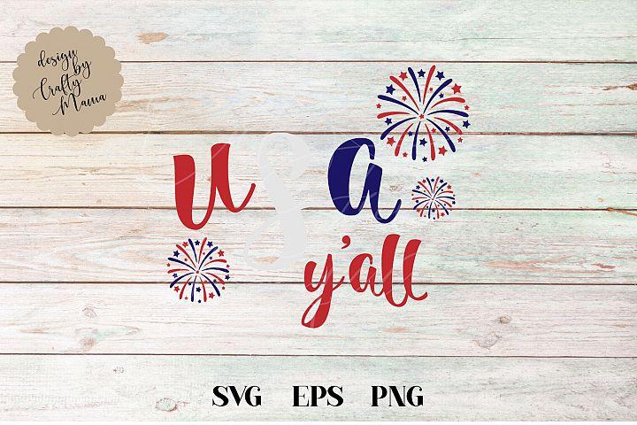 USA Yall, 4th Of July SVG