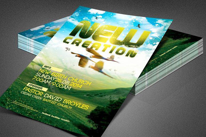 New Creation Church Flyer Template
