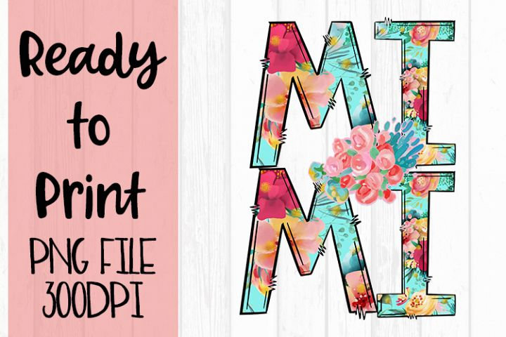 Bright Floral Mimi Ready to Print