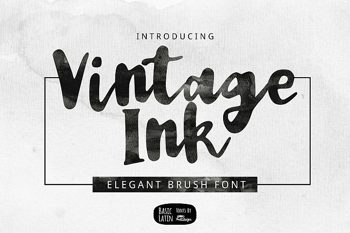 Vintage Ink Brush Font