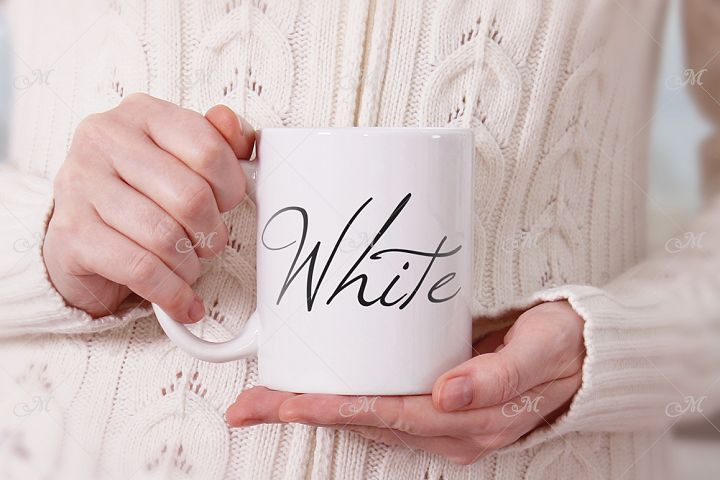 White Mug Mock-up. PSD Smart & JPEG