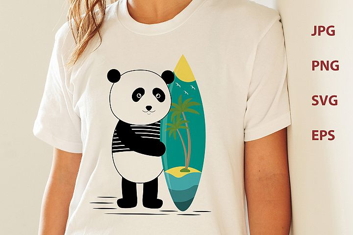 Surf along with the panda
