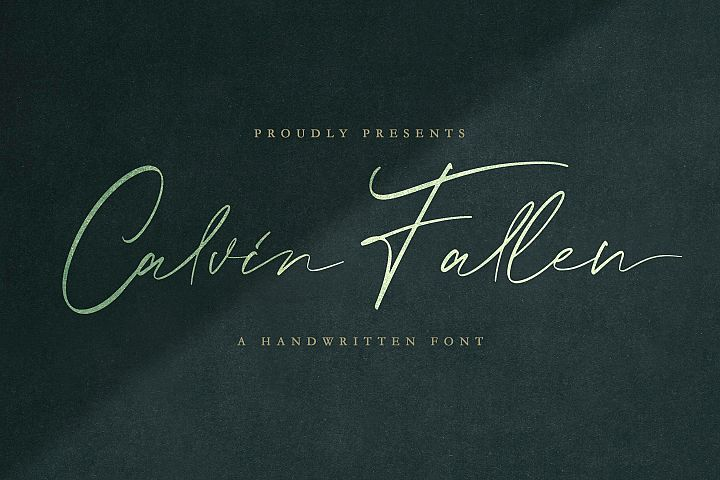 Introducing Calvin Fallen - Handwritten Signature Font Calvi