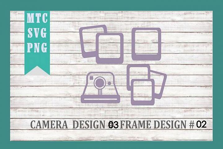 Polaroid Camera 03 & Film Frames 02 SVG Cut File