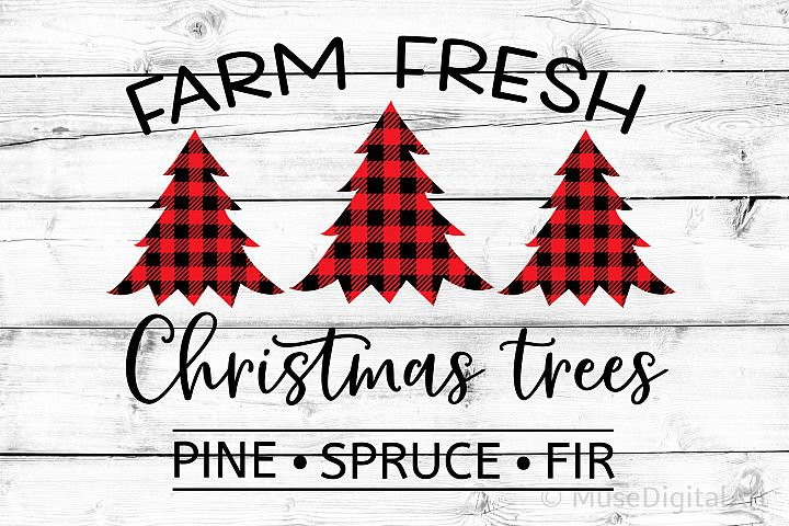 Farm Fresh Christmas Trees Svg, Christmas Svg, Farmhouse Svg