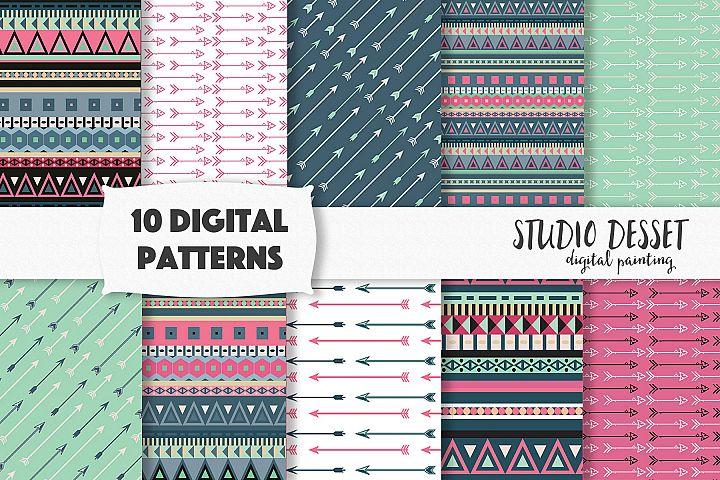 Tribal Patterns - Boho Backgrounds