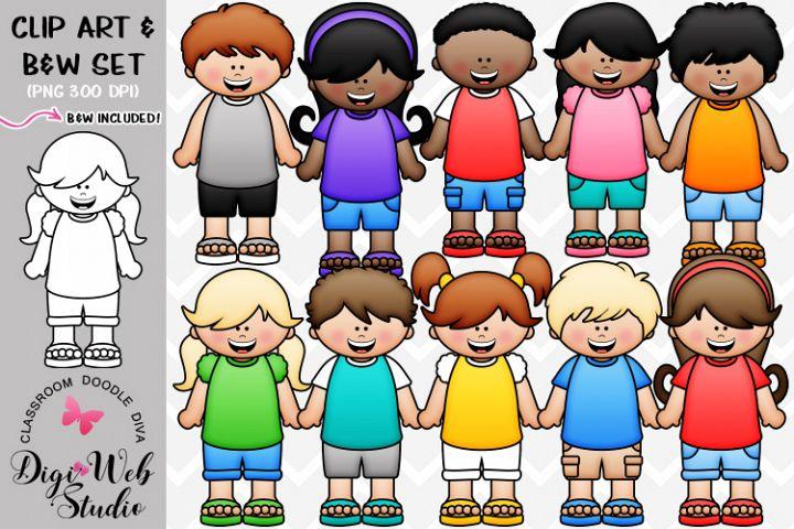 Clip Art / Illustrations - Big Grin Dressed for Summer Kids