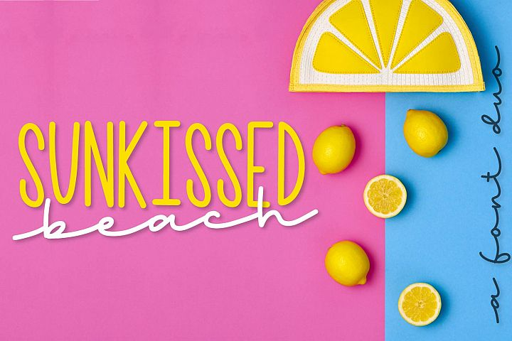 Sunkissed Beach - a Hand Lettered Font Pair - Script & Print