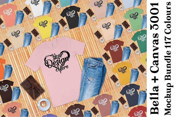 Bella Canvas 3001 Mockup Bundle T-Shirt Mock Ups 139