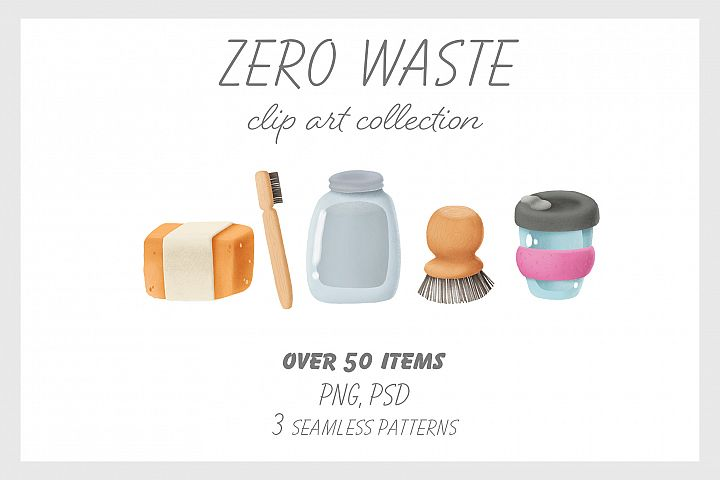 Zero waste clip art collection