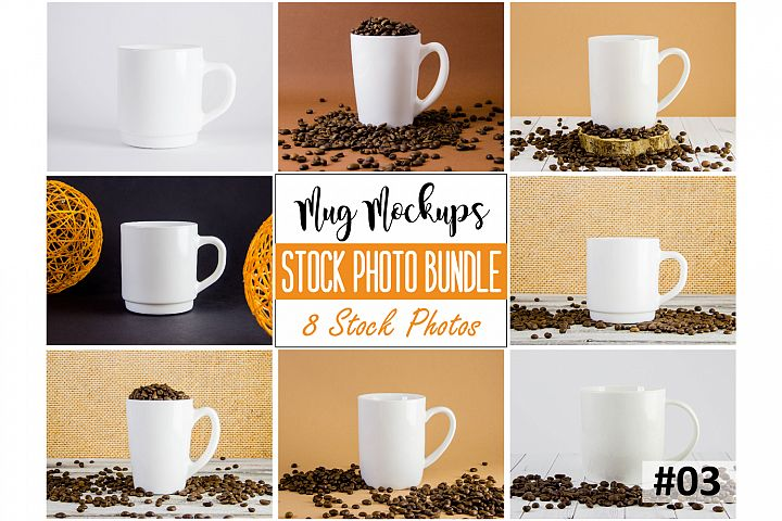 Mug mockup bundle 3, coffee cup, stock photo bundle