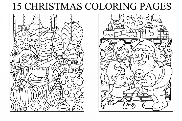 Coloring Pages For Kids - 15 Christmas Pages