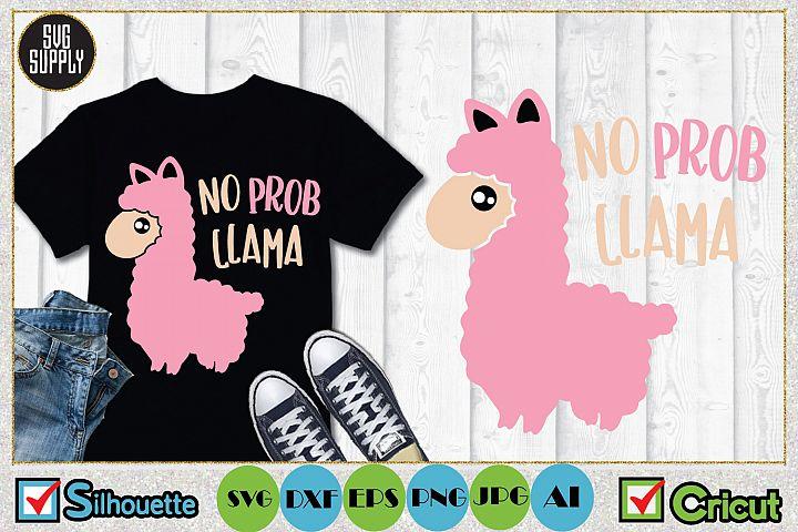 No Prob Llama SVG Cut File