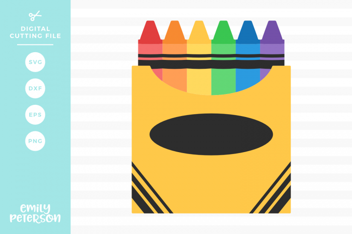 Box of Crayons SVG DXF EPS PNG
