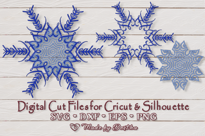 Snowflake Healed- SVG cut file