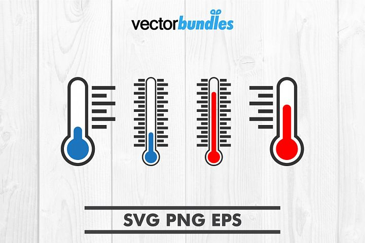 Thermometer hot and cold clip art svg