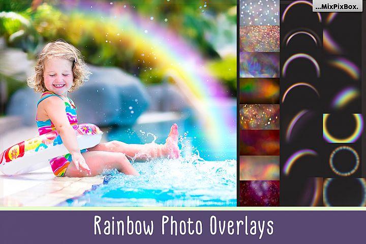 Rainbow overlays and textures