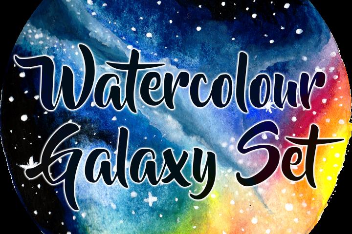 Circular Watercolour Galaxies and Nebulae