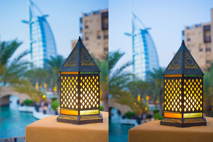 Ramadan Lantern With Burj Al Arab in Background