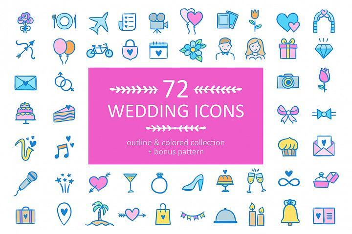 72 Wedding Icons