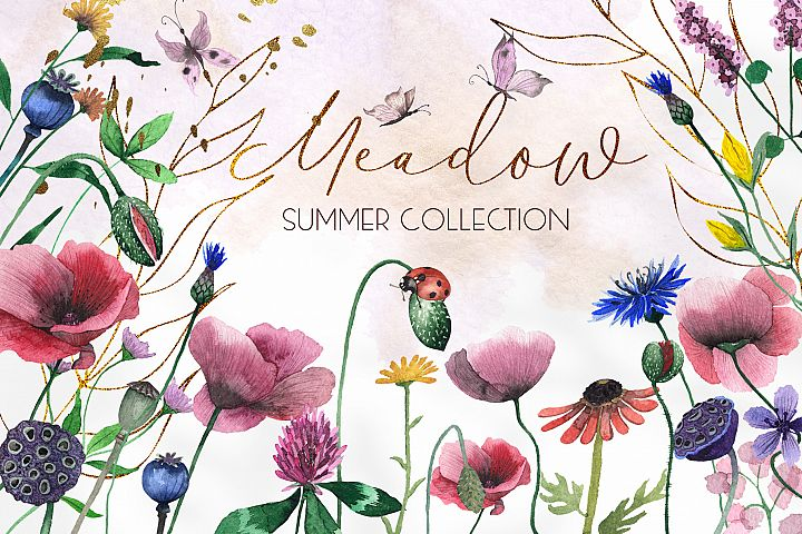 Watercolor Meadow collection