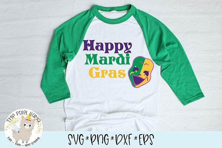 Happy Mardi Gras SVG Cut File