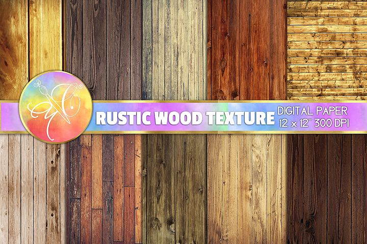 Rustic Wood Digital Paper, Digital Background