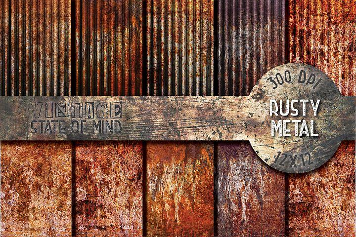 Rusty Metal Digital Papers