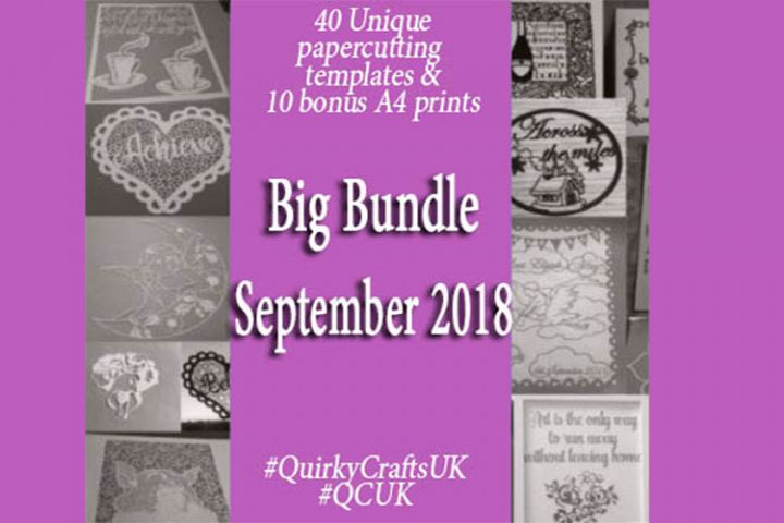 BigBundle SEPT18 - 40 Papercutting Templates &10 A4 prints
