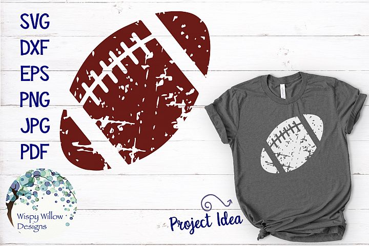 Distressed Grunge Football | Sports SVG