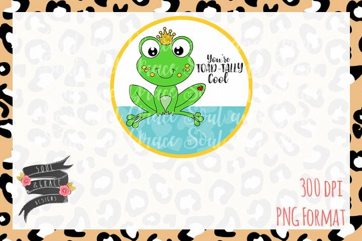 Totally Awesome Toad Frog Valentines Day INSTANT DOWNLOAD