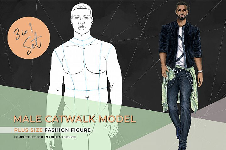 Male Plus Size Model- Catwalk Pose