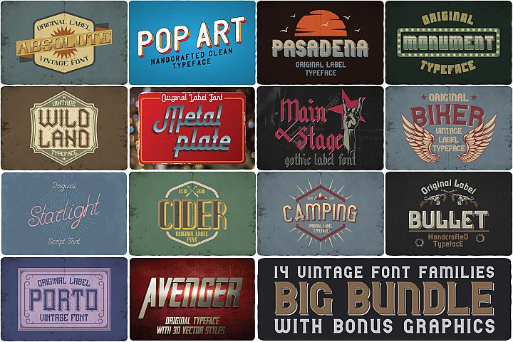 Big Bundle - 14 more fonts!
