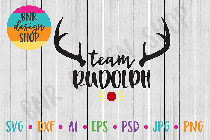 Christmas SVG, Team Rudolph, SVG Files