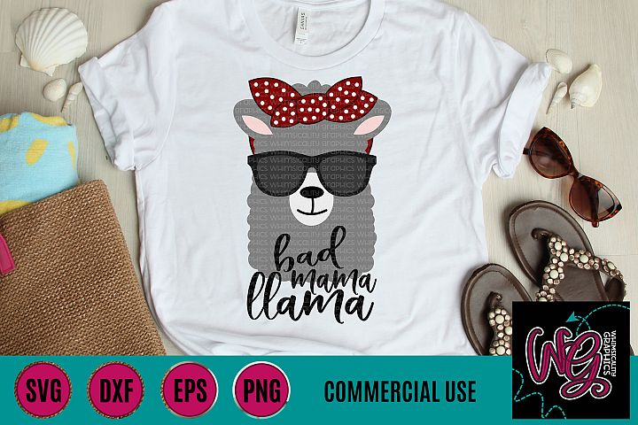 Bad Mama Llama SVG DXF PNG EPS Commercial