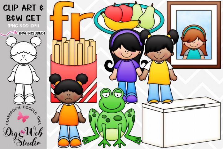 Clip Art / Illustrations - R Blends - fr Phonics