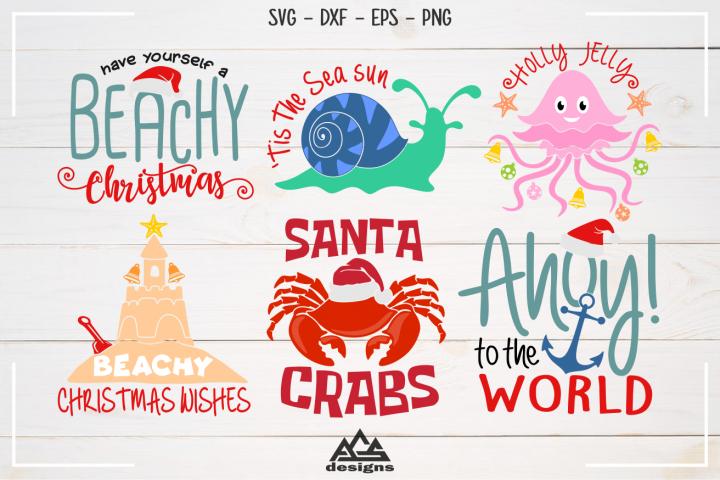 Beachy Christmas Packs Svg Design