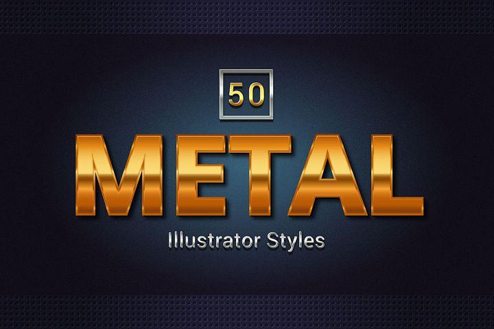 50 Metal Illustrator Styles