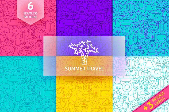 Summer Travel Line Tile Patterns