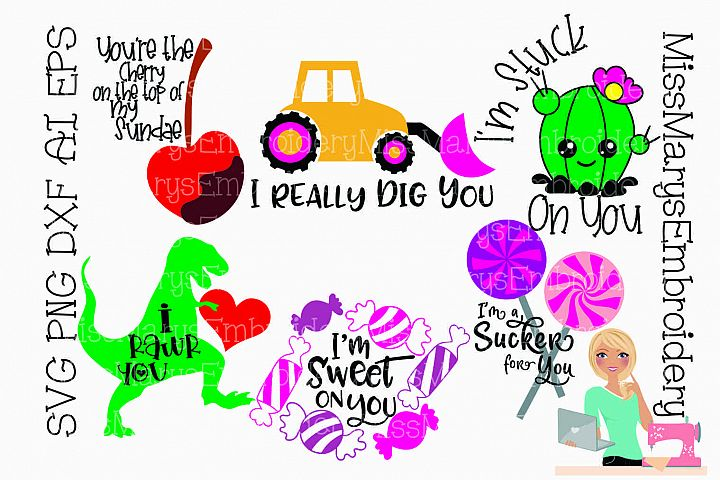 Valentines Day Bundle SVG Cutting File PNG DXF AI EPS