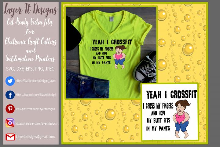 Funny Crossfit T shirt design
