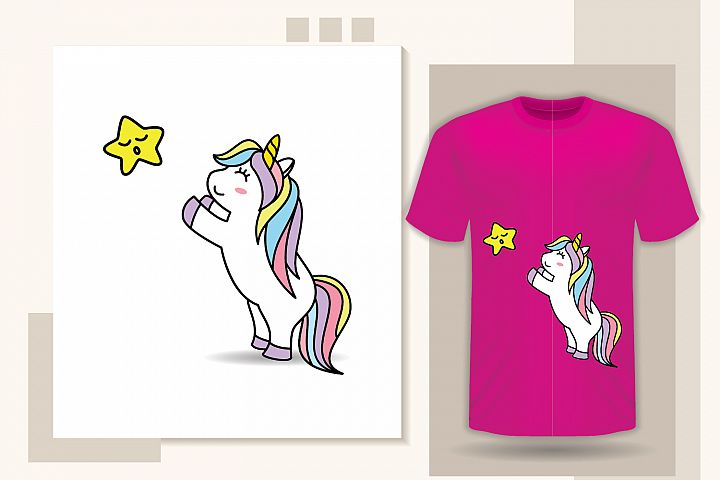 Funny Unicorn vector illustrator